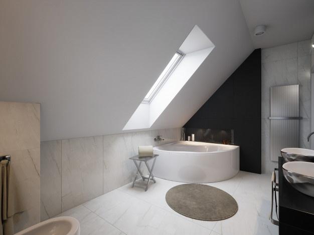 Prenova kopalnice pogosto vsebuje novo polaganje ploščic